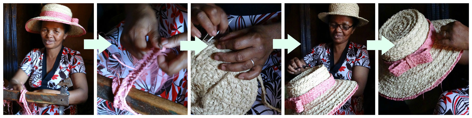 crafting of a hat la maison afrique fairtrade